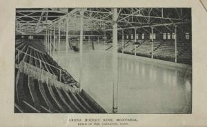 Westmount Arena before the fire as adapted from Arthur Farrell - Hockey: Canada's Royal Winter Game
