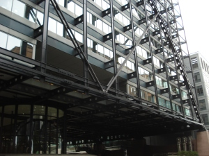 To achieve long spans, cellular beam composite structures are the norm in London.