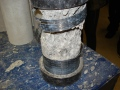 Confined concrete cylinder after failure